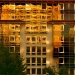 Reflection of Divan Hotel on Hyatt Regency!