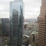 A view over Burrard Street from the 29th floor