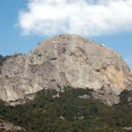 Moro Rock from the winding roads to Giant Forest