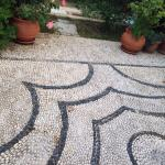 Beautiful mosaic floor in Villa Galini Lindos