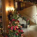 Lobby decked out for Christmas