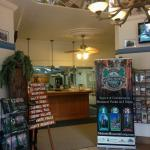 A peak into the Yosemite Sierra Visitors Bureau near the Southern entrance of Yosemite.