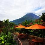 Volcano view from Altamira Restaurant