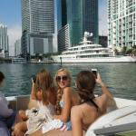 Saw Beautiful Yachts at Miami River Downtown