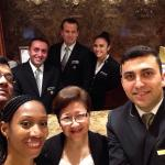Selfie with the ever so charming hotel staff.