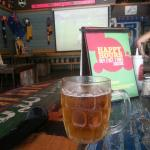 Cold beer and footy