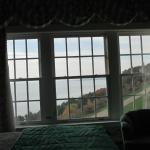 View of Lake Huron from Room 304, and a garden below