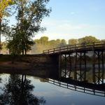 Early autumn morning at the Old North Bridge