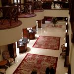 From the second floor, looking down into the lobby.