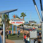"""driving by the """"vegas"""" sign"""