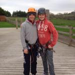 Dafydd with our instructor Ben.