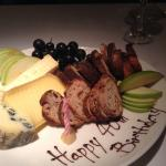 40th birthday cheese plate