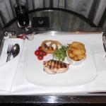 Grilled Chicken, room service style