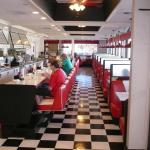 This is the fifties style diner at the Red Lion Hotel..cool.