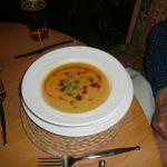 Red Lentil Soup With was also yummy.