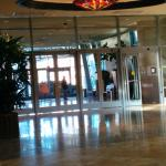 Valet parking entry, hotel lobby