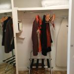 Mirror closet, in-room safe & iron/board