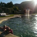 Relaxing in the afternoon, grampians in the back shot