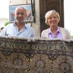 Feruk and Becky with rug