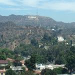 Hollywood sign from our room