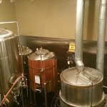 The brewing kettles