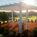 Pergola overlooking The Crossings Golf Course