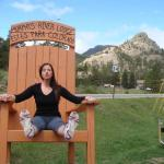 I glued myself to the chair in protest of leaving Estes Park (just kidding)!