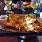 Excellent. Fresh lobster stuffed with shrimps and mero in a parmesan cheese sauce!! Amazin