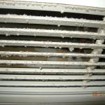 a/c vents covered with mold