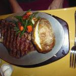 Rib eye - with potato, when 'no potato' was clearly asked for