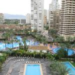 "pool view , pool in background "" Benidorm "" pool"