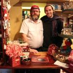 Me and the shop keeper!