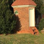 Even the outhouses are brick and octagonal.