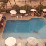 View of the swimming pool from my room