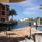 view from breakfast at the yacht club