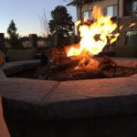 Twilight at the Flagstaff Courtyard fire pit