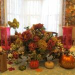 Dining room table arrangement