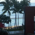 View of beach and Tiki Bar from our room!