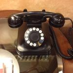 I love this old functional phone in lobby