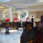 my mom and dad at the hotel lobby at the 8th floor