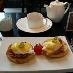 Egg benedict in the hotel!