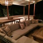 Outdoor seating and dining- just steps away from the beach