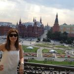 National Hotel has the best view of the Kremlin, State Museum and part of St. Basil's and Red Sq