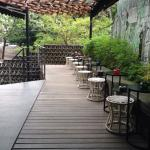 Clean & cozy patio, at the hotel entrance