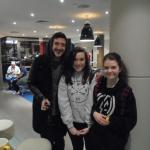 Austin Carlile in the bar with fans