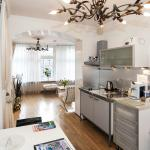 kitchenettte of la vie en rose apartment 1