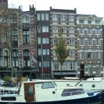 View of the hotel from the Amstel river