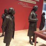 Washington and Madison in Hall of Founders at National Constitution Center