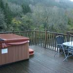 Hot tub and view from the balcony