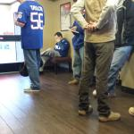 So nice to see fans from the cowboys and giants talking in the lobby of red roof inn secaucus
